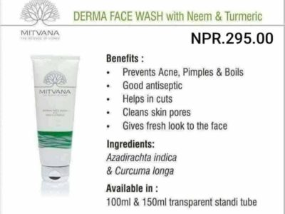 Mitvana Derma Face Wash With Neem and Turmeric