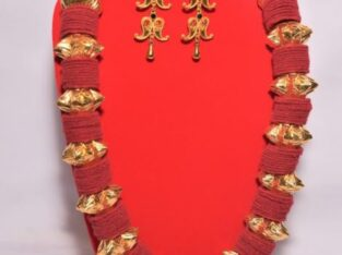 Buy Gold Plated Kantha Mala with earrings in Nepal
