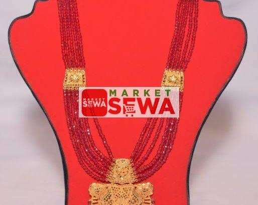 Gold Plated Crystal Mangalsutra with Warranty