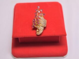 Gold plated Peacock ring with Warranty