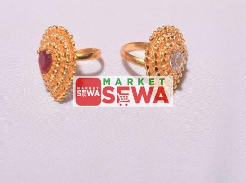 Gold plated Stone ring with Warranty in Nepal