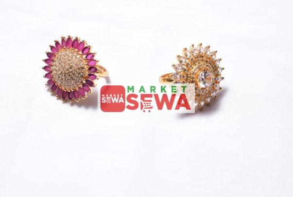 best design Gold Plated Ring with Original Stone