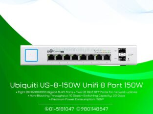 Ubiquiti Unifi Switch 8 port 150W(US-8- 150W)