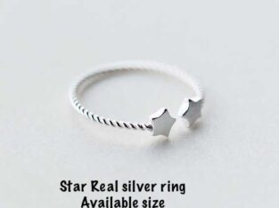 small silver ring adjustable size