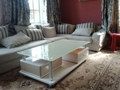 Sofa and a table up for sell
